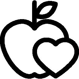 manzana-corazon